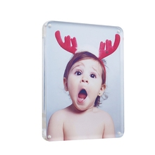 Plastic Water Magnetic Acrylic Photo Frame Girls And Animals Sexy Full