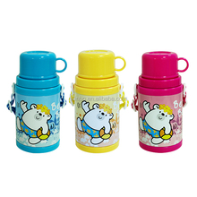 Tin double wall water bottle with cap for kids back to school