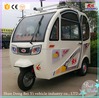 High quality electric tricycle 3 wheeler drive shaft adult with roof