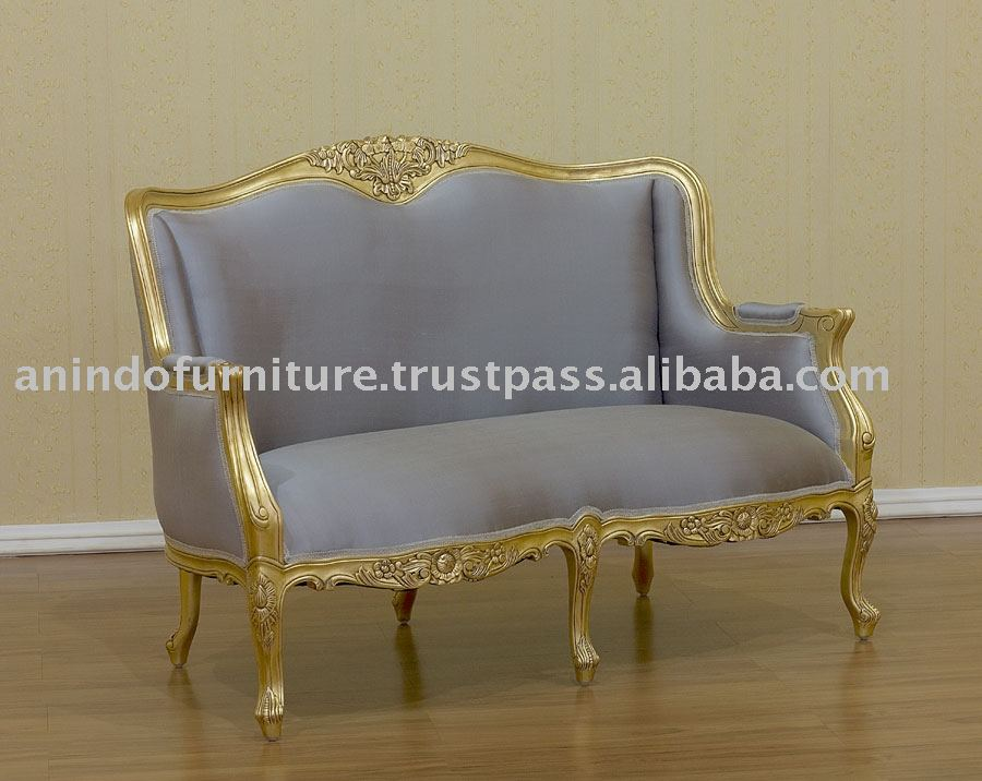 Reproduction Sofa French Reproduction Sofa Gold Gilt Versailles 2 Seater Settee Thesofa
