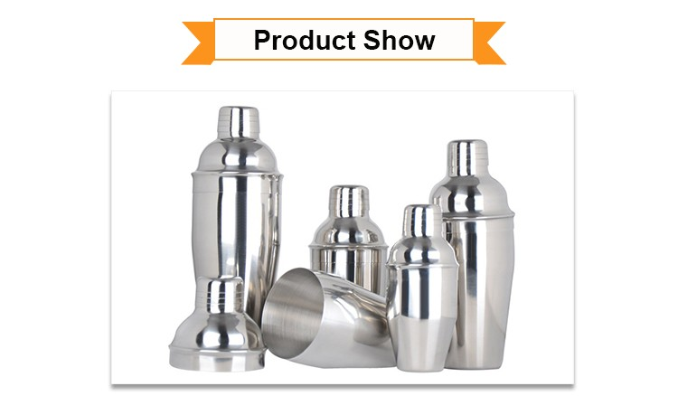 Best selling stainless steel 750ml Martini Shaker set
