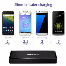 Tronsmart 10400mAh USB Type-C External Battery Power Bank With Quick Charge 3.0 Portable Charger for Galaxy Note 7 Iphone 7 Plus