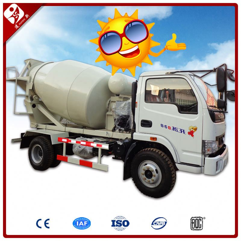 3M3 And 6M3 Mobile Mini Diesel Concrete Mixer Truck With Front End Loader