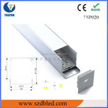 15mm high profile led alu with heat sink for light strip