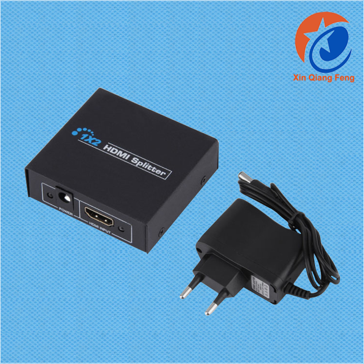 1 in 2 Out HDMI Splitter HDCP 1080P Dual Display hdmi audio splitter 1.4 with EU plug
