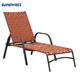 Outdoor Patio Furniture Adjustable Stacking Strap Chaise Lounge