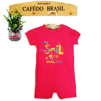 2016 breathable soft cotton baby rompers with letters print