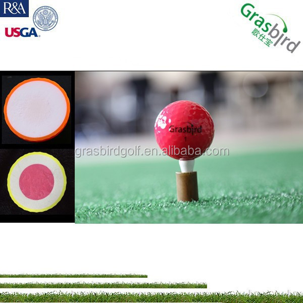 wholesale logo customize red color golf ball made in china