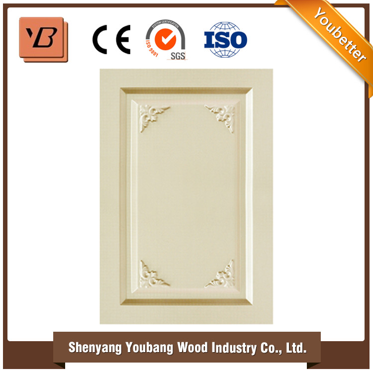 PVC MDF furniture kitchen cabinet door solid wood kitchen cabinet closet door