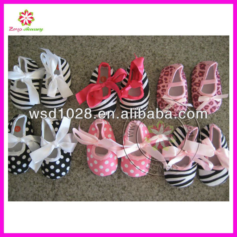 Infant Baby Booties Mary Jane Polka Dot Zebra Leopard Print baby shoes