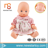 New arrival excellent quality baby Lifelike 7 inch craft dolls with bb sound