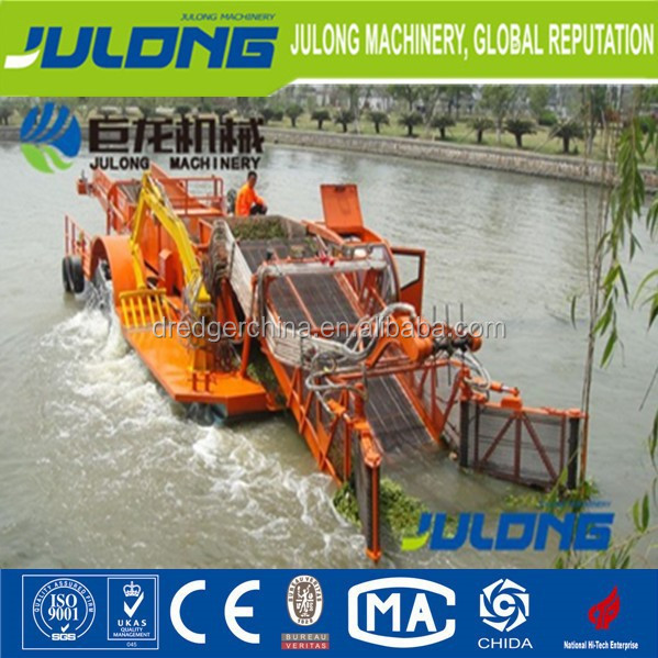 best selling dredger/water hyacinth cutting ship/aquatic weed harvester ship/floating garbage salvage vessel/dredgers for sale