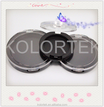 custom compact makeup cases/ empty compact powder case/ transparence powder compact case wholesale