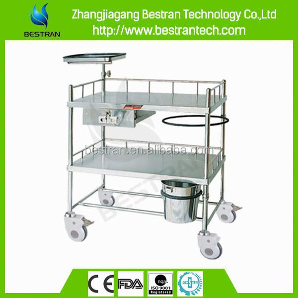 BT-SCT001 Hospital 304 stainless steel mobile medical injection trolley