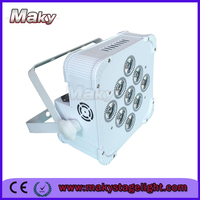 9x6w RGB 3 in 1 LED Par Fixtures Wireless Battery Powered LED Uplights Wedding event