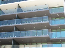 balcony design photo / laminated tempered glass fence for balconies