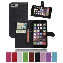 "PU Leather card slot wallet stand flip Cover Case For iPhone 7 Plus (5.5"")"