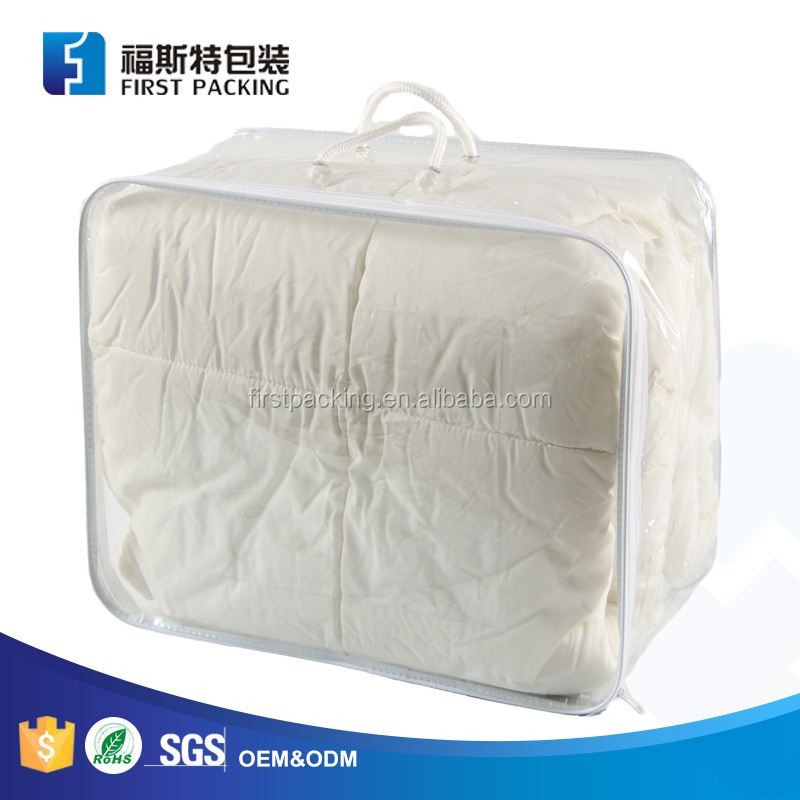 China factory customized clear PVC wire frame comforters package bag