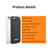 3700mAh 5V New arrival 4 colors battery case for iPhone 6
