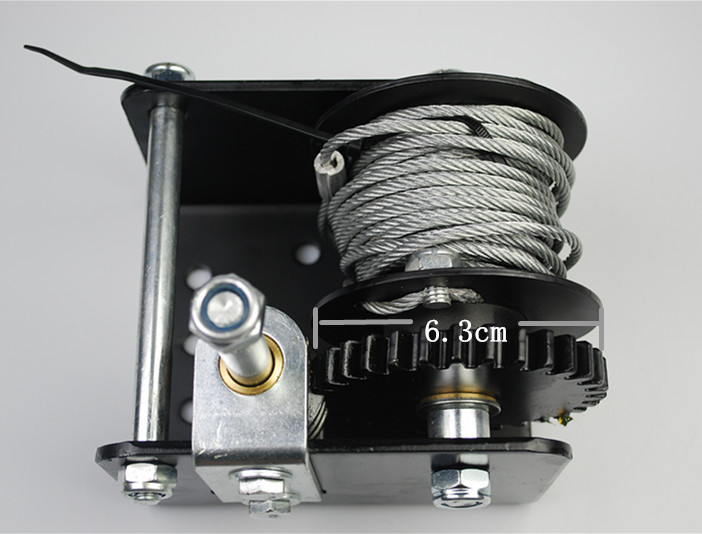 Hydraulic Worm Gear Winches : Mini multifunctional worm gear hydraulic compact winch