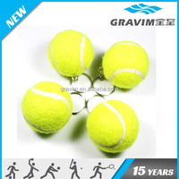 Hot sale promotional gift custom logo print vip key ring sport ball craft wholesale alibaba felt tennis