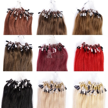 K.S WIGS mocha hair products ombre micro ring loop hair extensions double drawn