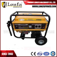 6.6kVA 6.6kv Heavy Duty Portable Petrol Generator Set With Wheel Kit