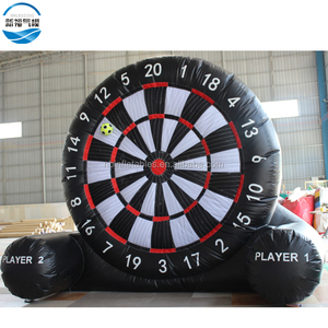 Giant inflatable soccer dart sport game,6m inflatable football target darts board game for sale