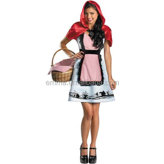wholesale adult fairytale costumes little red riding hood costume CW-1842