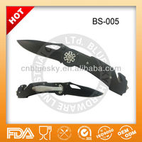 Stainless steel camping folding survival knife kit
