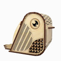 Laser cut owl shape wooden Christmas LED night light wall hangings