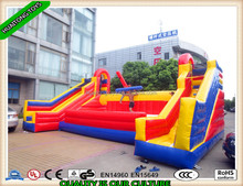 Exciting outdoor inflatable Battle Zone Jousting arena interactive sport game for sale