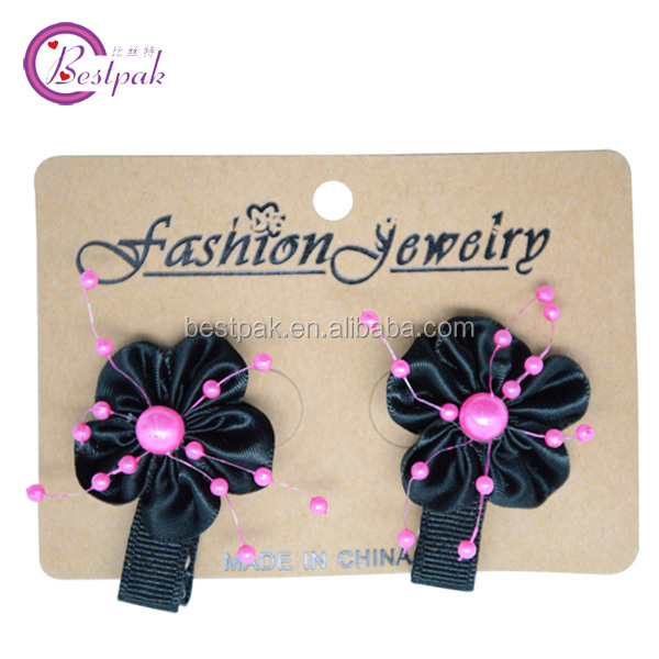 2014 new style colorful five-petaled flowers with beads hair clip