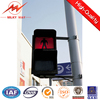 factory supply Tri-arm LED traffic light poles and CCTV