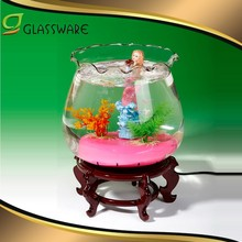 2017 clear glass mini tank Mini fish tank aquarium