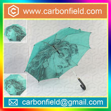 23''*8ribs art photo printing automatic straight umbrella design