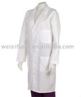Unisex White Knee Length Medical Lab Coat