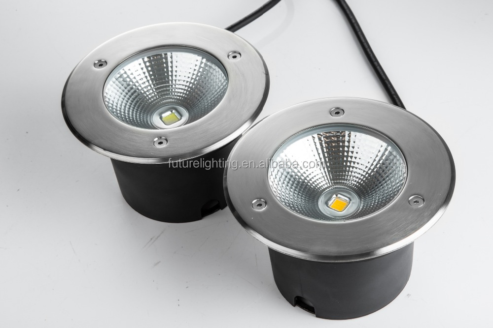 Outdoor floodlight high power round 10w cob led inground light