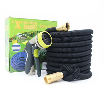 Feihu 2018 Best Hot Deluxe 25 50 75 100 Feet Expandable Flexible Magic Garden Water Hose with Spray Nozzle