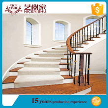 alibaba beautiful used modern spiral interior exterior stair handrail/ ornamental cheap modern aluminum stair railings