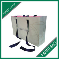 LARGE SIZE APPAREL PACKING PAPER BAGS WITH CUSTOM HANDLES