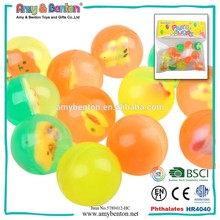 New Design colorful rubber transparent clear bouncing ball