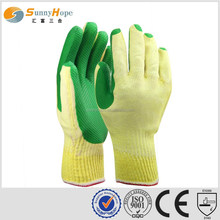 10 Gauge green knit nitrile utility gloves