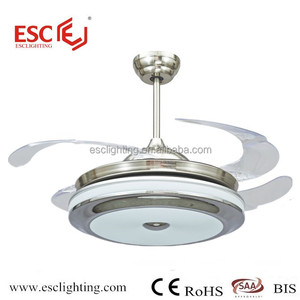 Hot Selling ceiling fan with folding blades 36w LED light