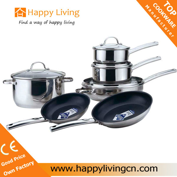 Stainless steel nonstick eco pan cookware brands