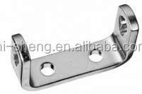 customized stamping metal U bracket with four bolt punching hole