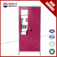 popular India style steel bedroom wardrobe / steel almirah design / metal almirah