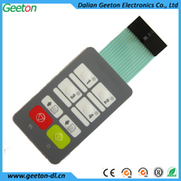 2013 New Design LED Button Embossed Keyboard Membrane Switches