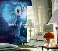 angel girl picture on canvas print