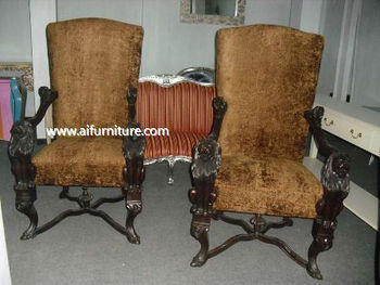 french classic king chair furniture indonesia- CODE AIF AIRA 25- french antique king chair furniture indonesia -